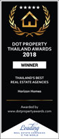 Small digital version of Dot Property Award 'Best Agencies Thailand 2018' awarded to Horizon Homes.