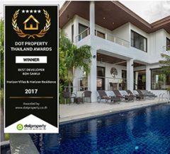 Horizon Homes award: Best Developer Koh Samui 2017