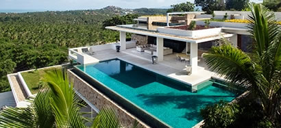 Koh Samui multi-level villa with swimming pool.