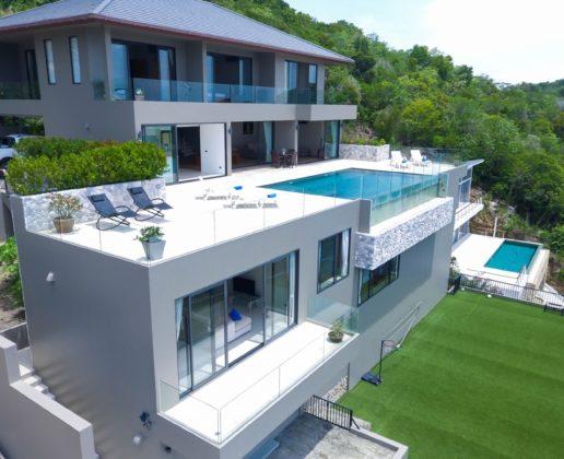 sea view villa with pool