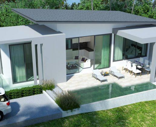 Garden pool villas for sale koh samui