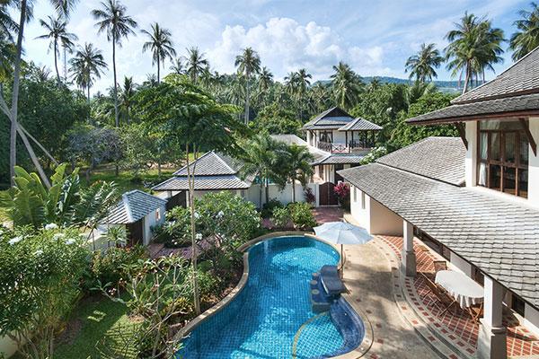 4 bedroom villa for rent in bang por koh samui for Koh tao cabana koi pool villa