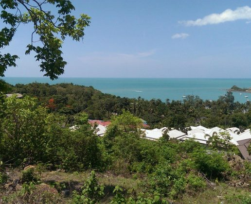 Beautiful sea view from a plot on the hill