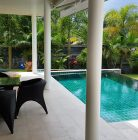 Terrace of a garden villa with private pool