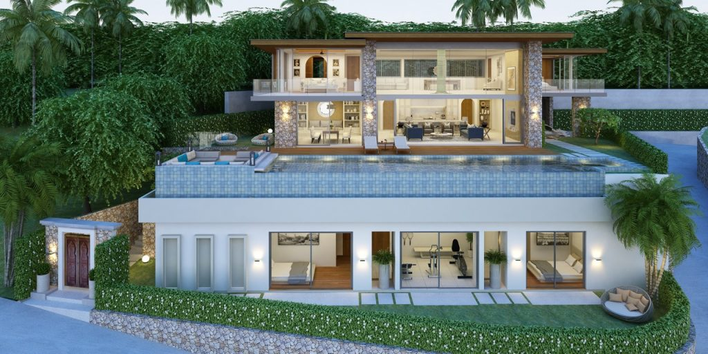 Stunning 5-bedroom villa with seaview
