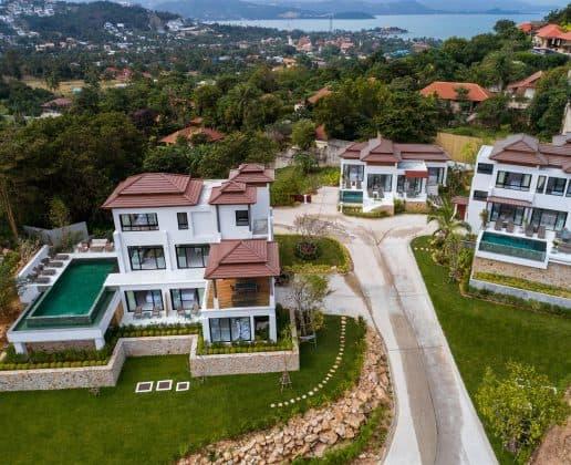 Stunning small estate composed of three individual villas, Koh Samui.