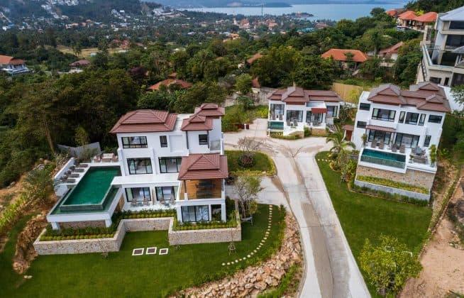 superbe propriété comprenant 3 villas individuelles, koh samui.