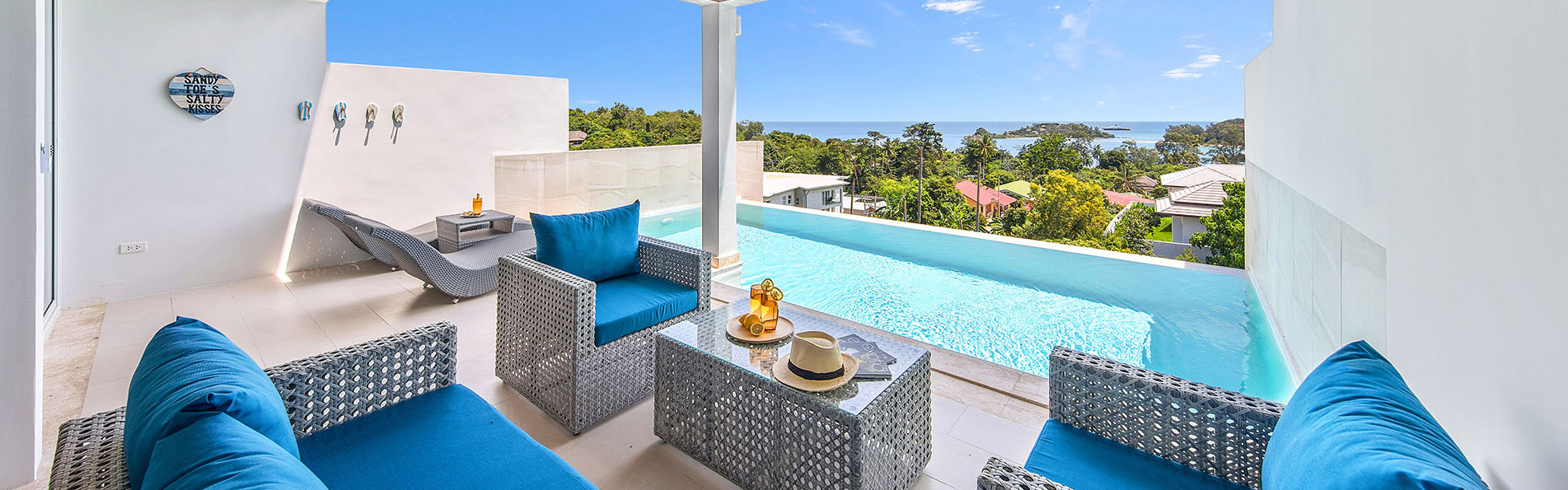 Detached-villa with sea view for rent in Koh Samui, Thailand.