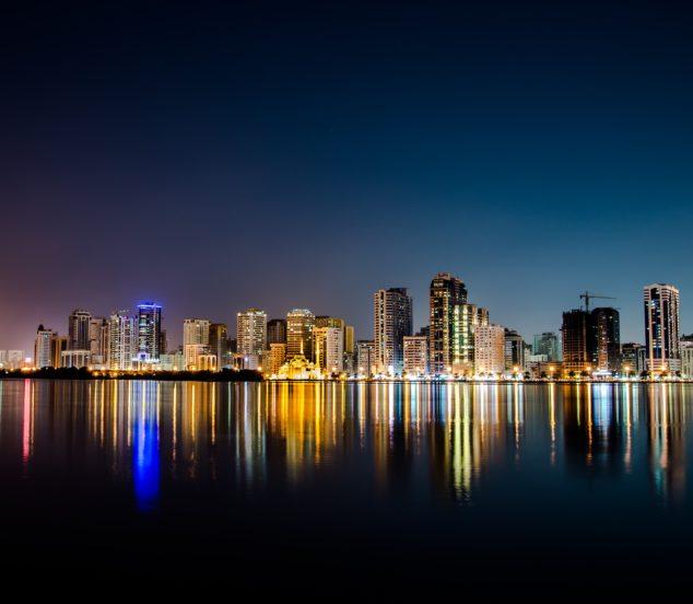 Ligne d'horizon de Bangkok la nuit.