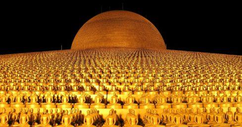 Dhammakaya塔,泰国。
