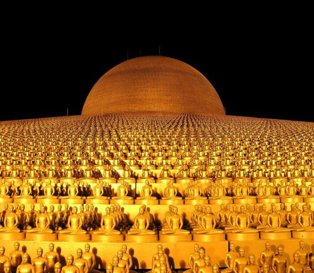 Dhammakaya Pagoda, Thailande.