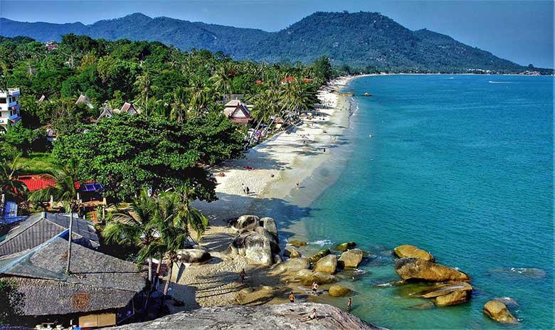 在泰国的海滩。