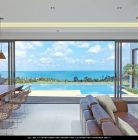 Seaview from the living area of a villa
