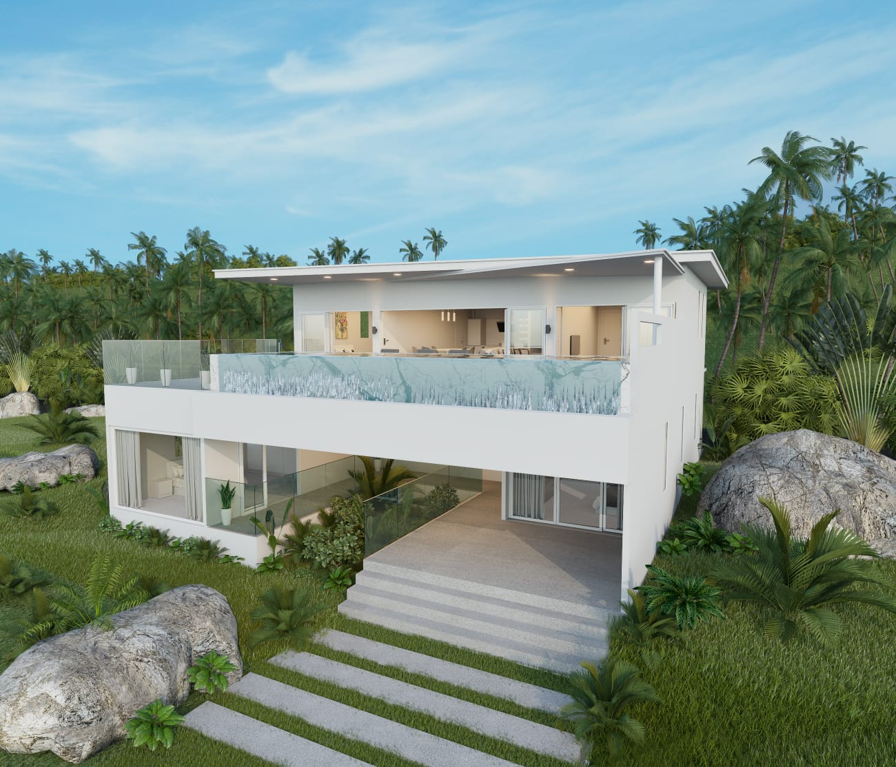 modern design sea view villa