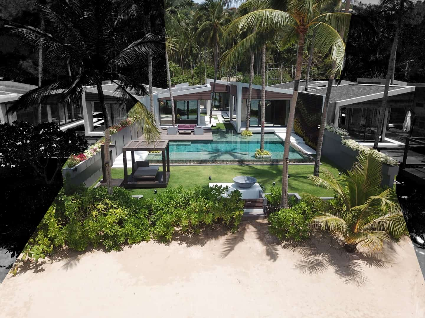 Beach front villa, Samui, luxury