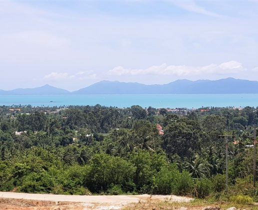 Stunning sea view land in bophut, koh samui