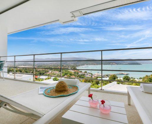 2-bedroom apartment with panoramic views, koh samui