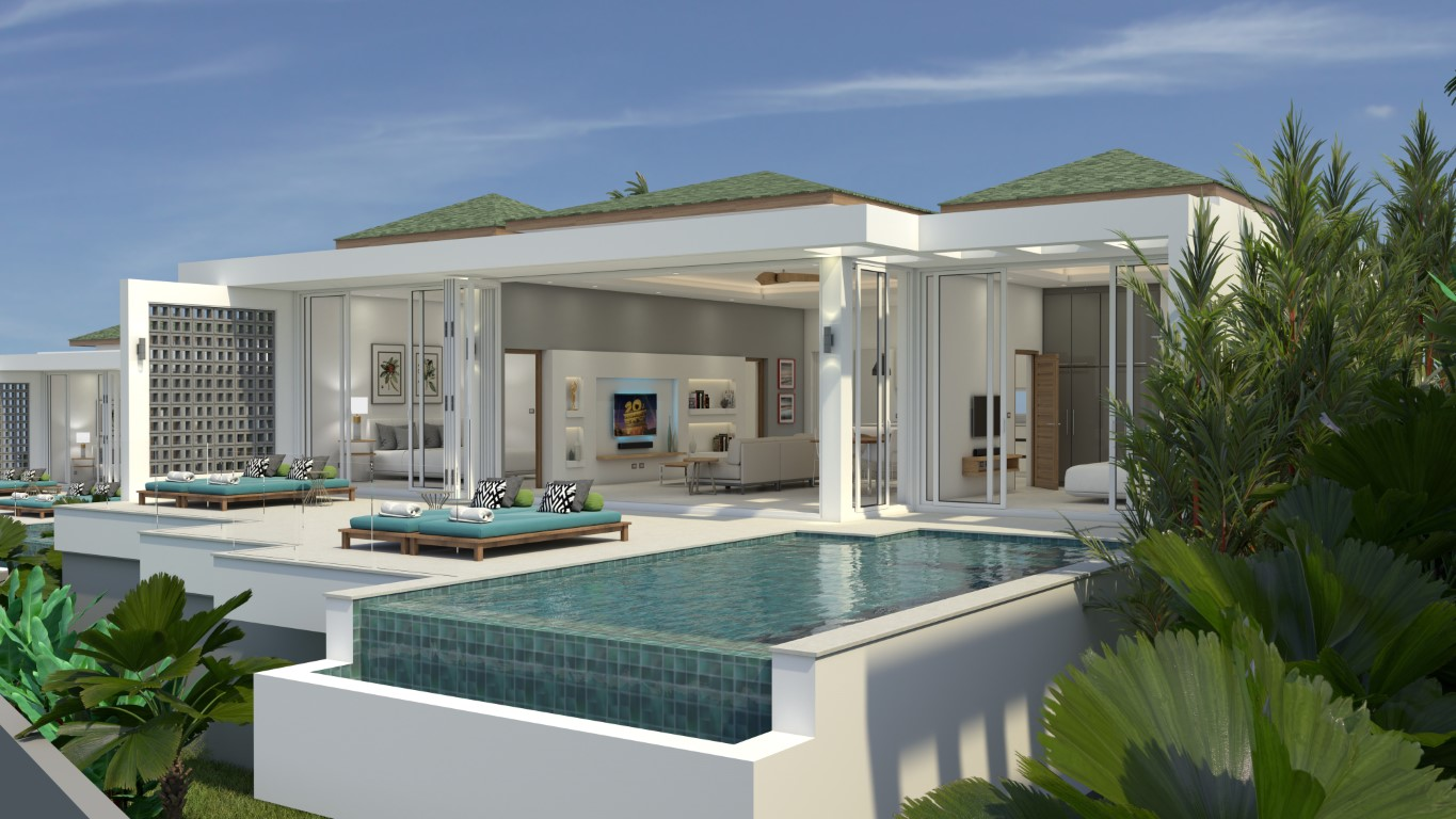 modern 3-bedroom villa with sea view