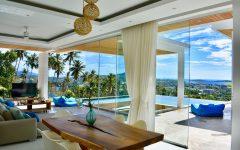 4 bedroom sea view villa, chaweng