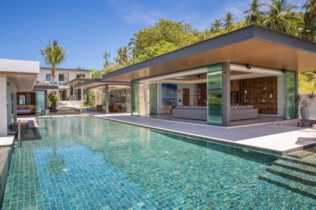 luxury sunset beach villa