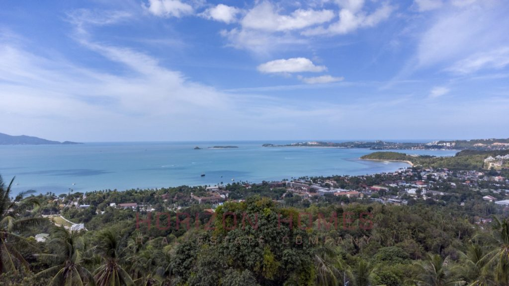 seaview land for sale in koh samui. thailand