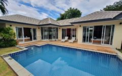 pool villa, close to the beach