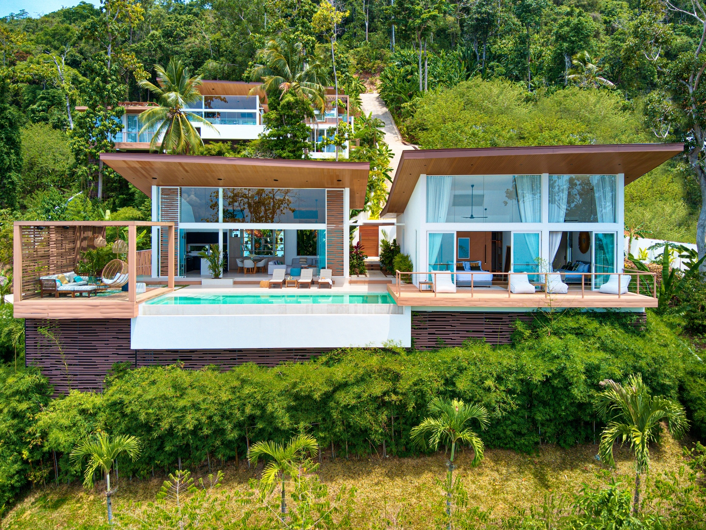 3 bedroom sea view tropical pool villa