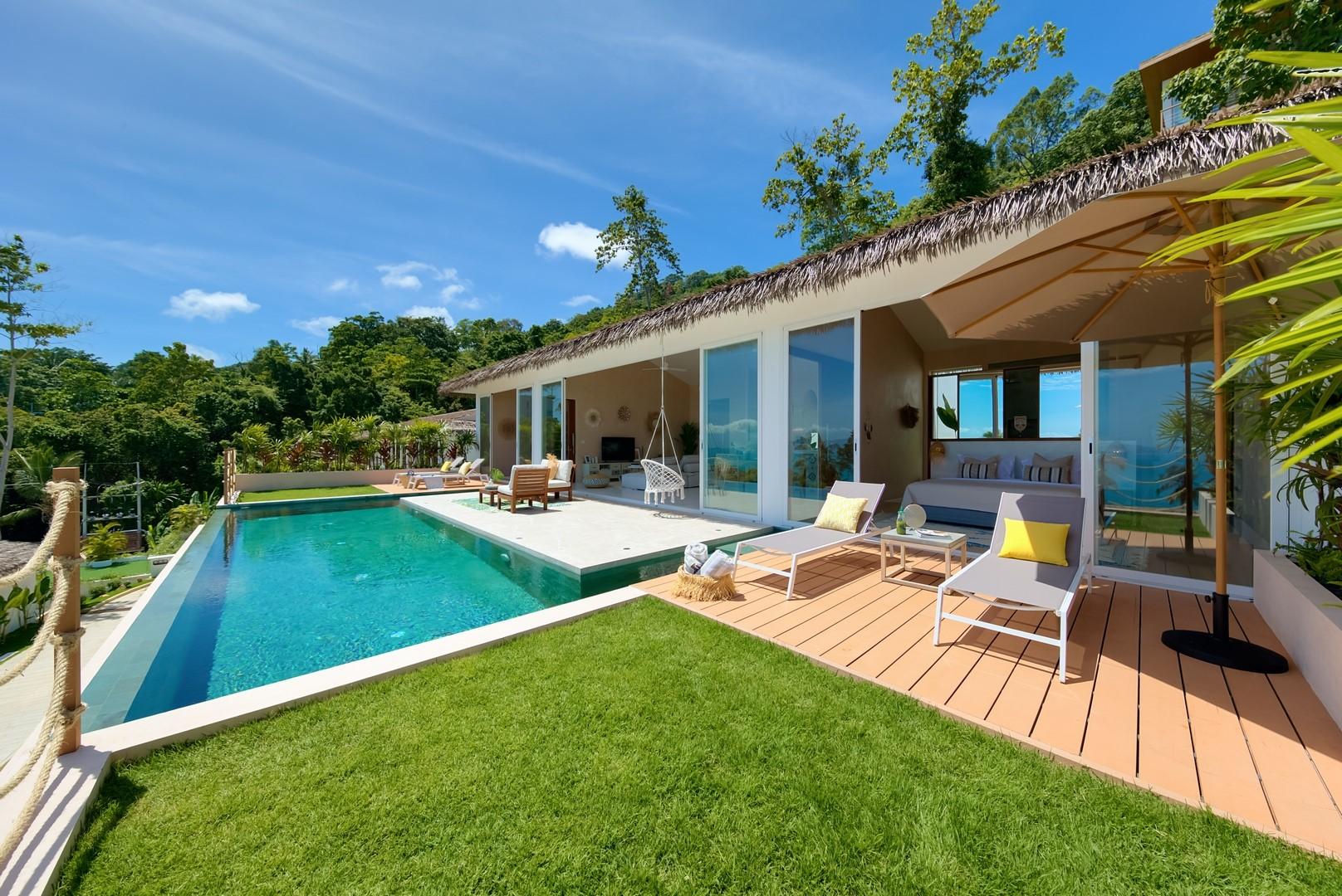 2 bedroom sea view tropical villa